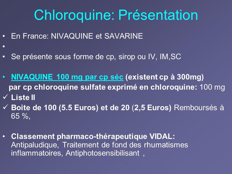 Chloroquine: Présentation