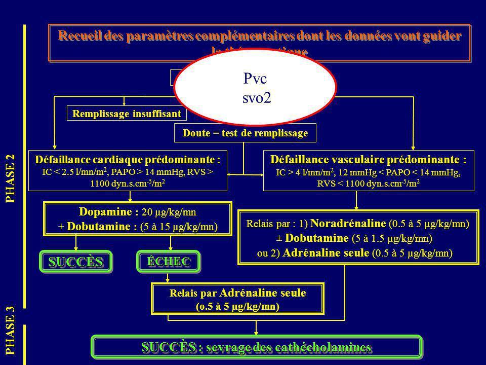 Recueil des paramètres complémentaires dont les données vont guider la thérapeutique