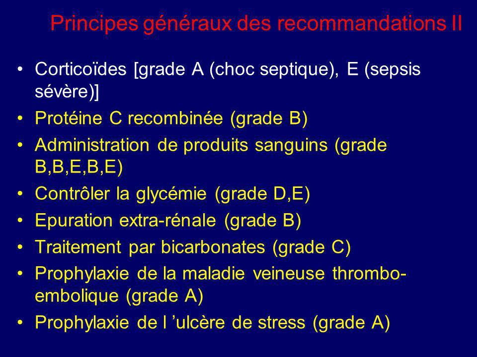 Principes généraux des recommandations II