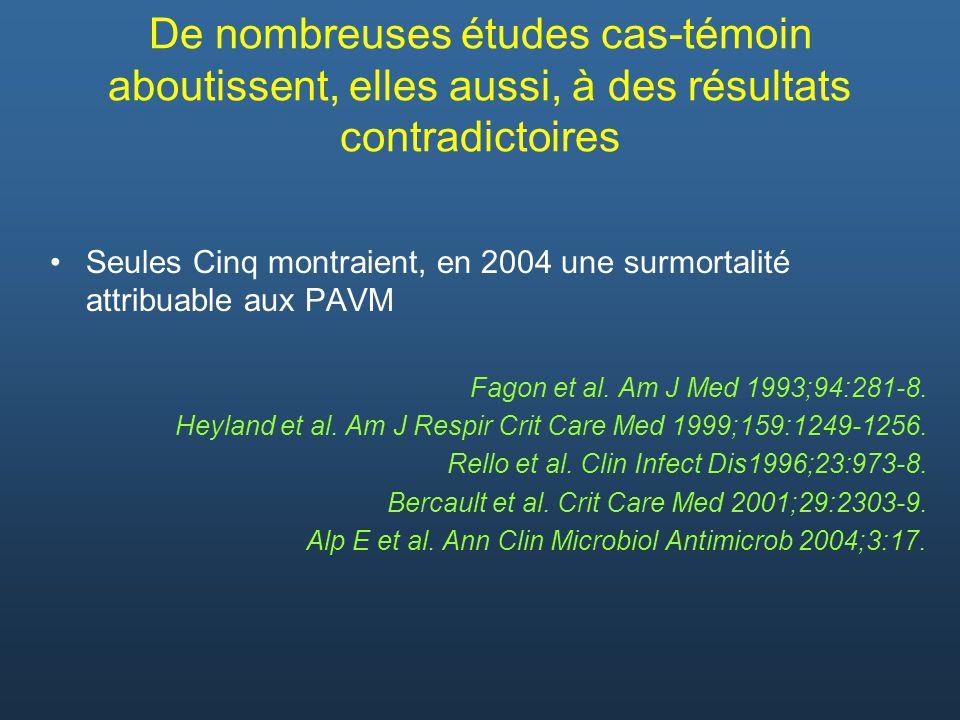 De nombreuses études cas-témoin aboutissent, elles aussi, à des résultats contradictoires
