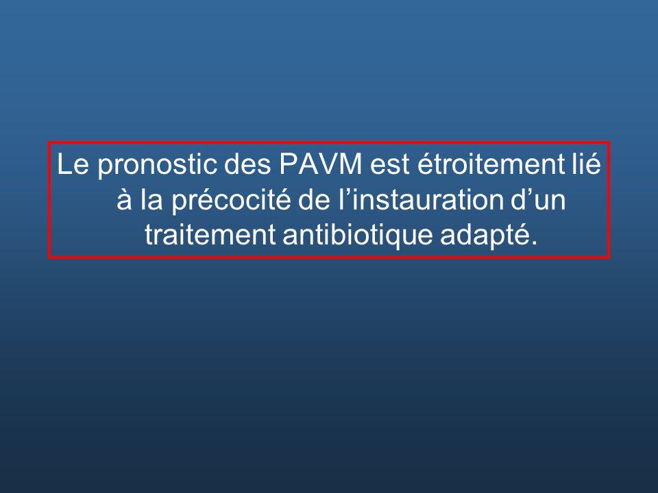 Le pronostic des PAVM est étroitement lié à la précocité de l'instauration d'un traitement antibiotique adapté.