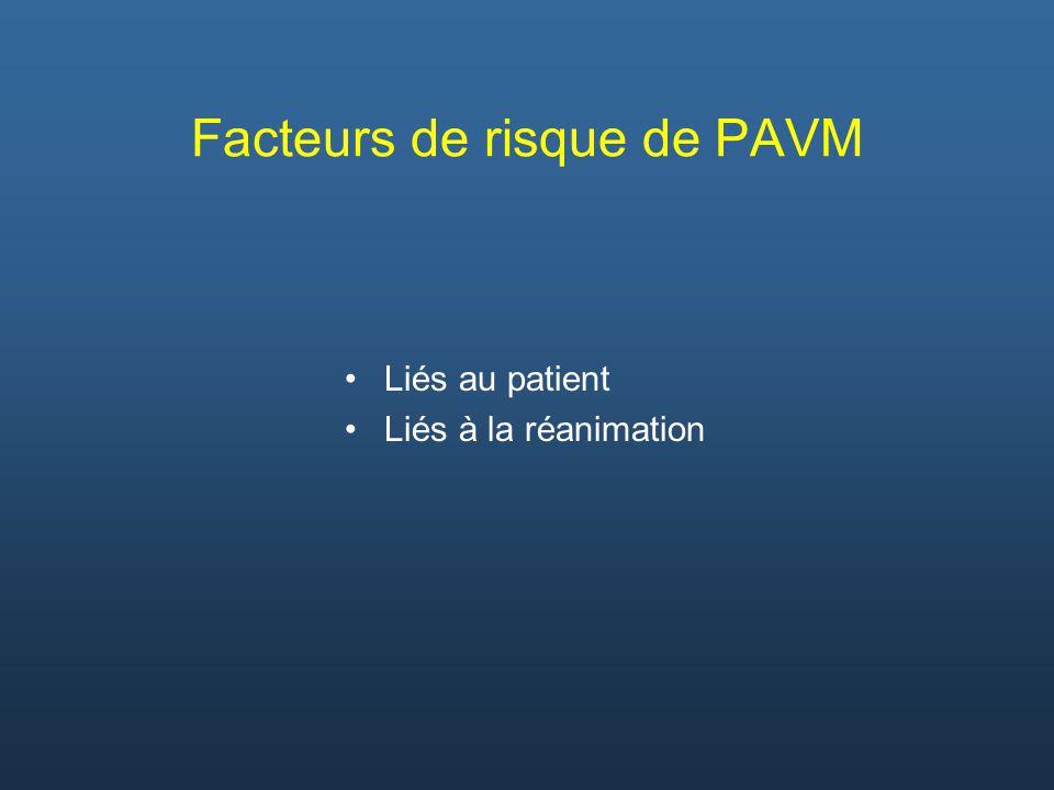 Facteurs de risque de PAVM