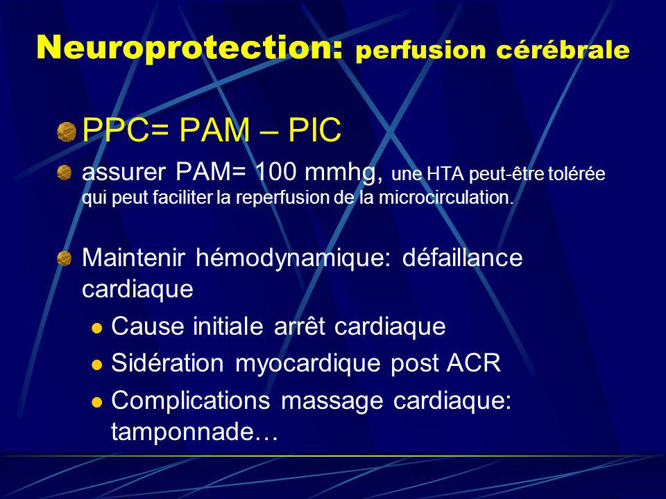 Neuroprotection: perfusion cérébrale