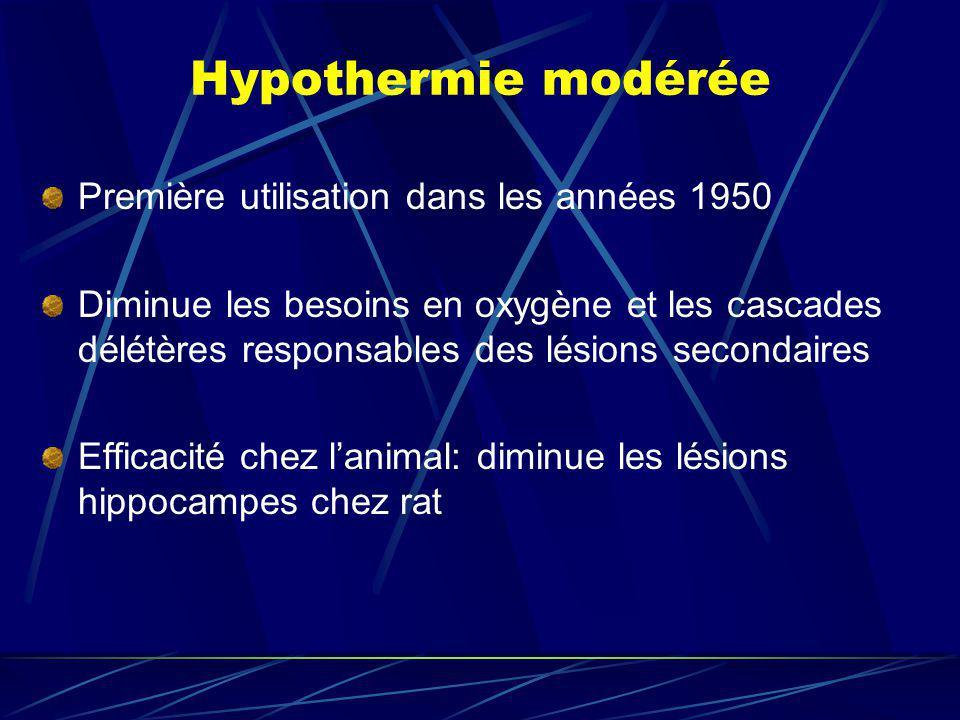 Hypothermie modérée Première utilisation dans les années 1950