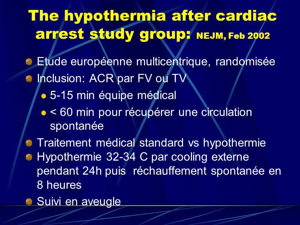 The hypothermia after cardiac arrest study group: NEJM, Feb 2002