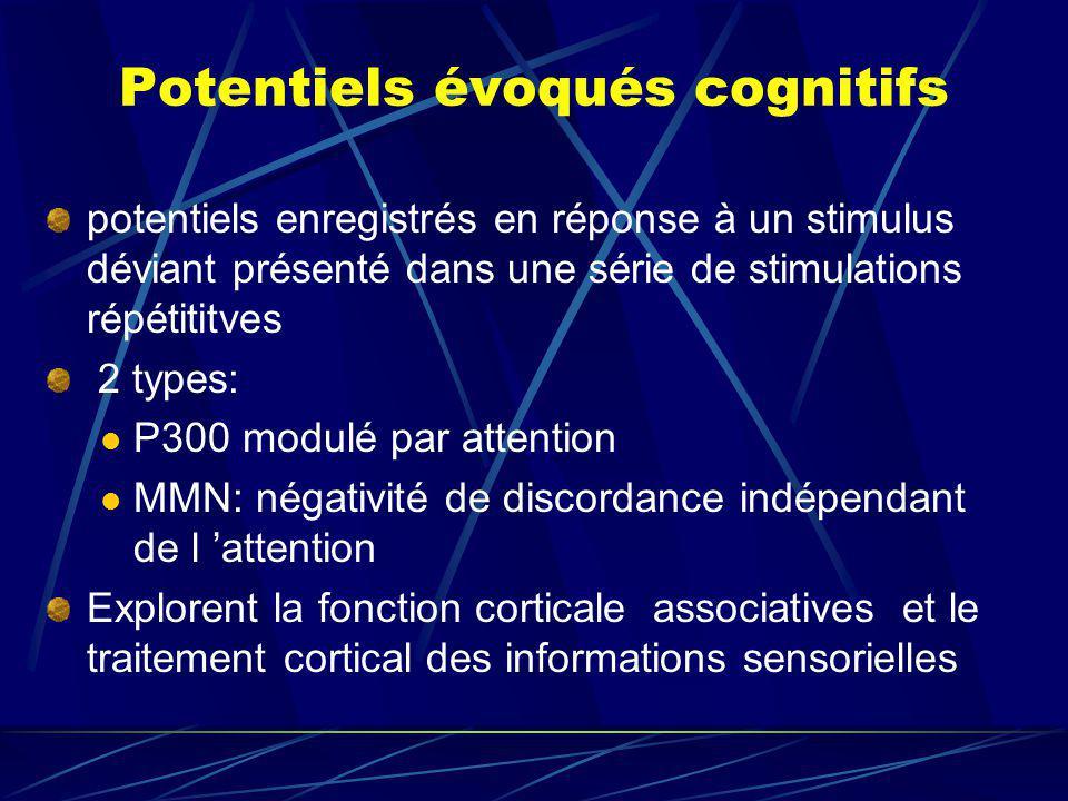 Potentiels évoqués cognitifs