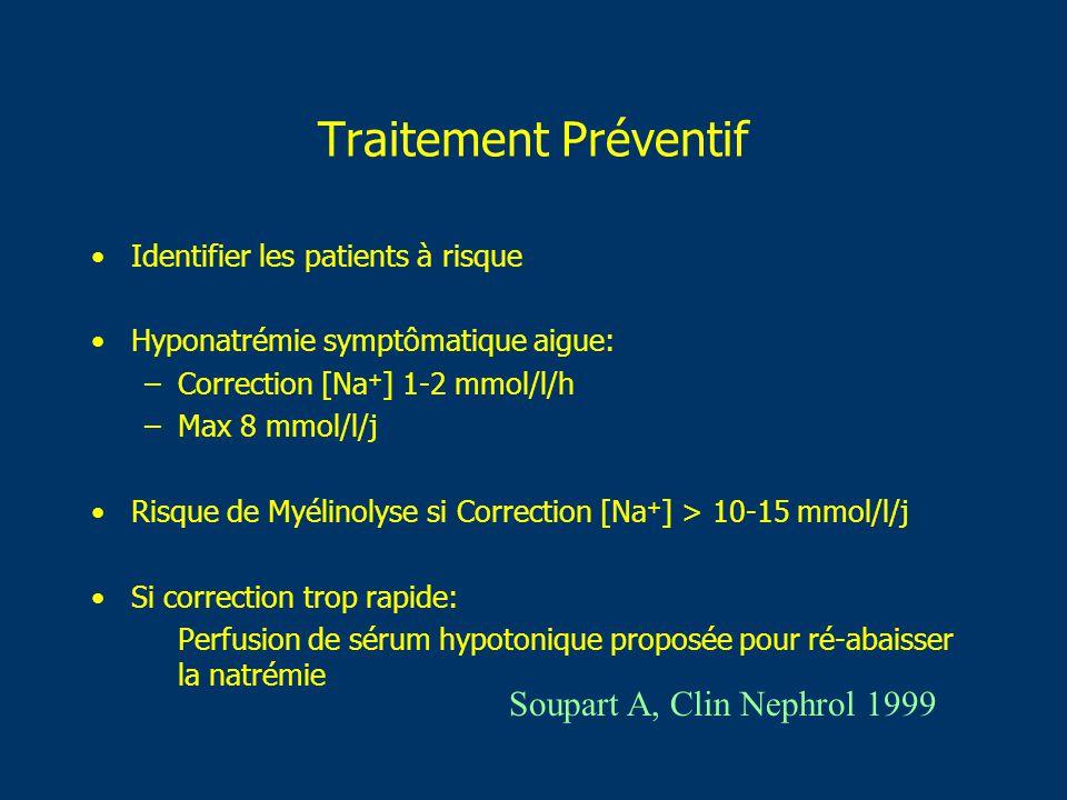 Traitement Préventif Soupart A, Clin Nephrol 1999