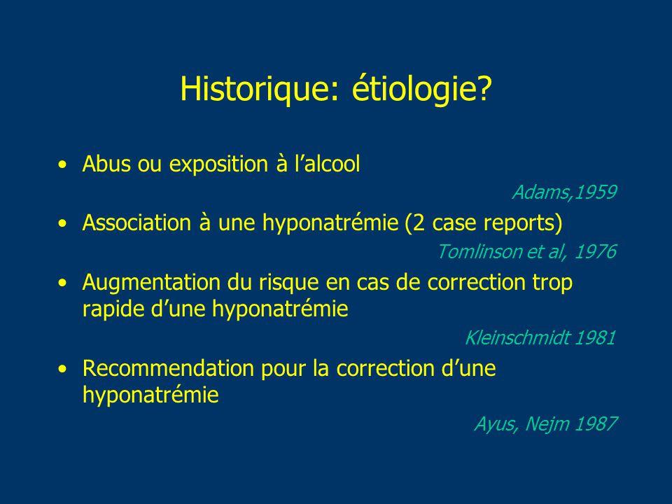Historique: étiologie