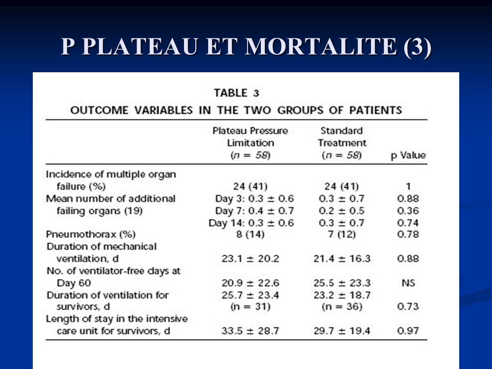 P PLATEAU ET MORTALITE (3)