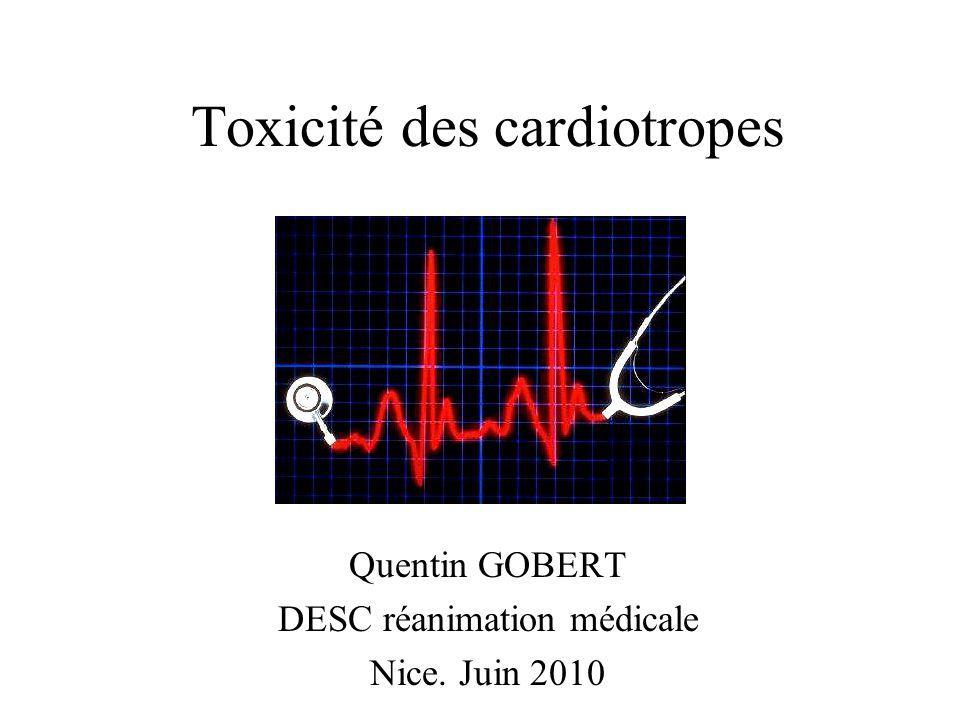 Toxicité des cardiotropes