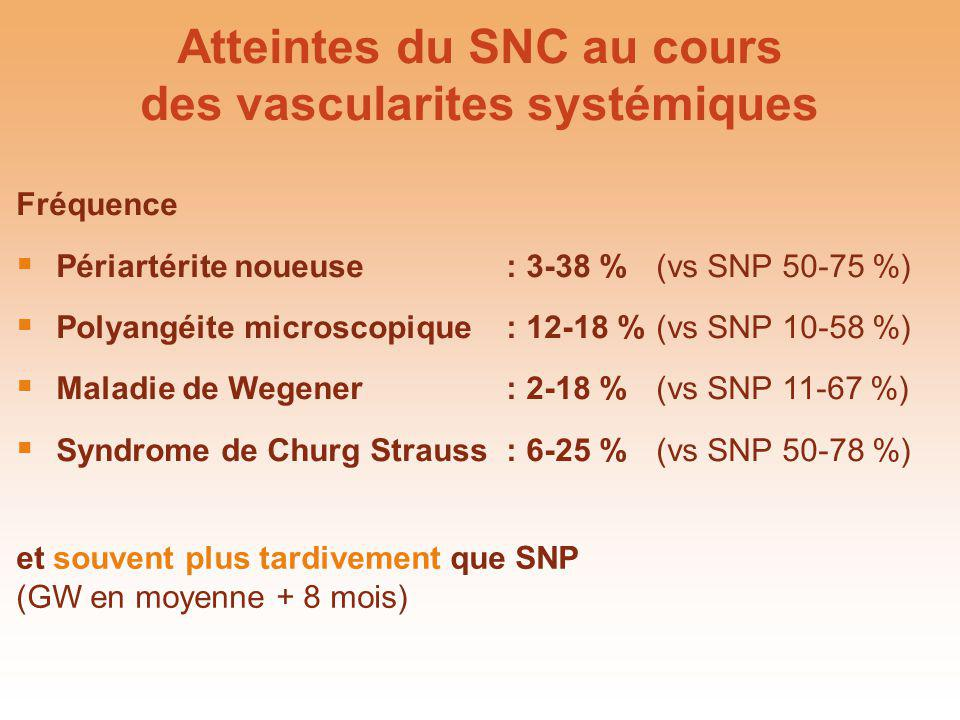 Atteintes du SNC au cours des vascularites systémiques