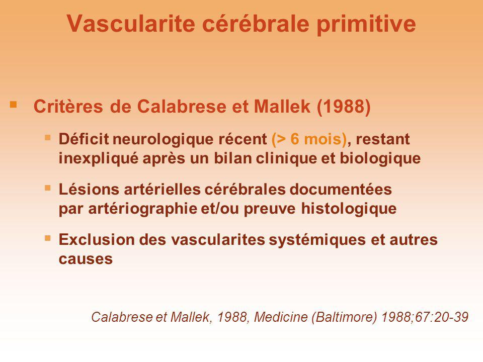 Vascularite cérébrale primitive
