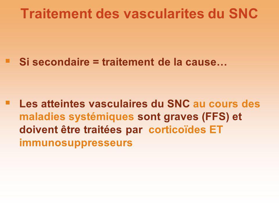 Traitement des vascularites du SNC