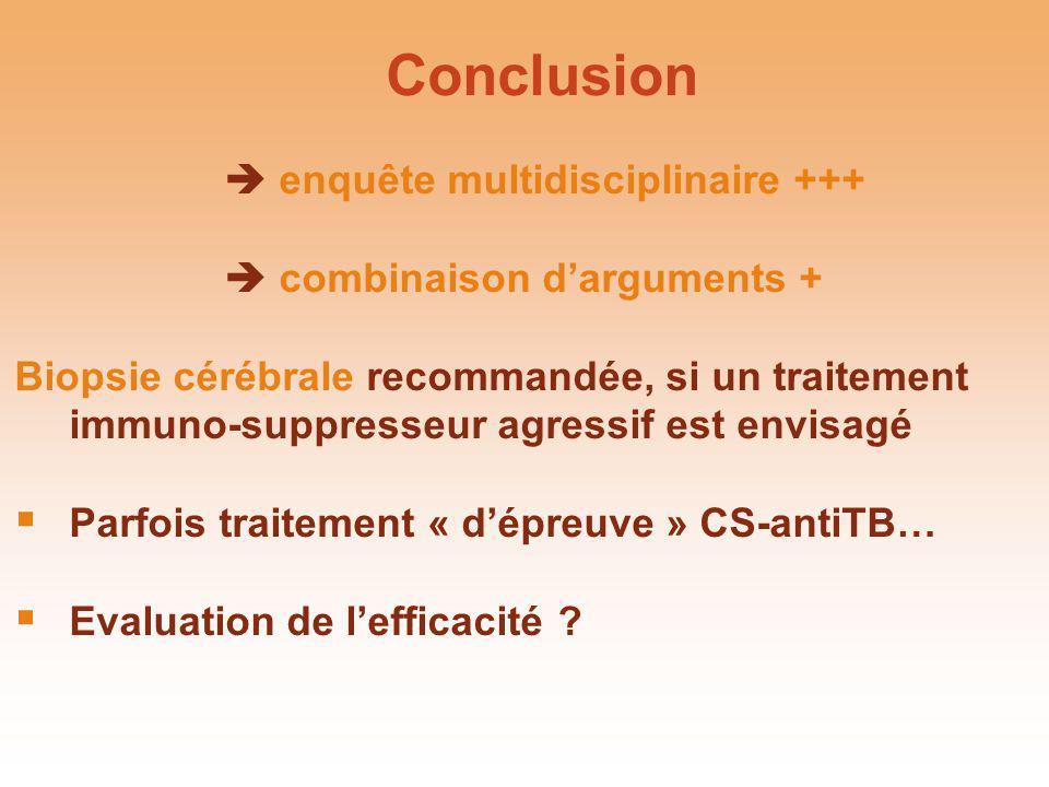 Conclusion  enquête multidisciplinaire +++