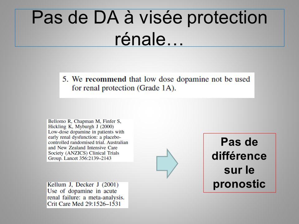 Pas de DA à visée protection rénale…