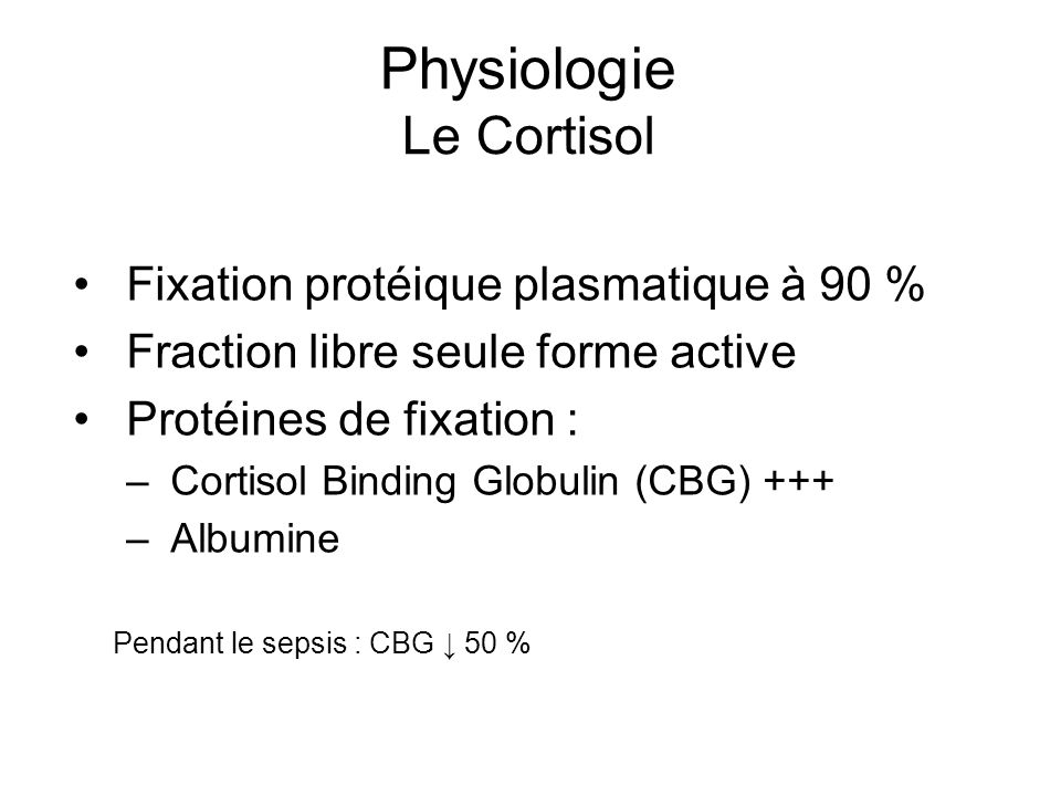 Physiologie Le Cortisol