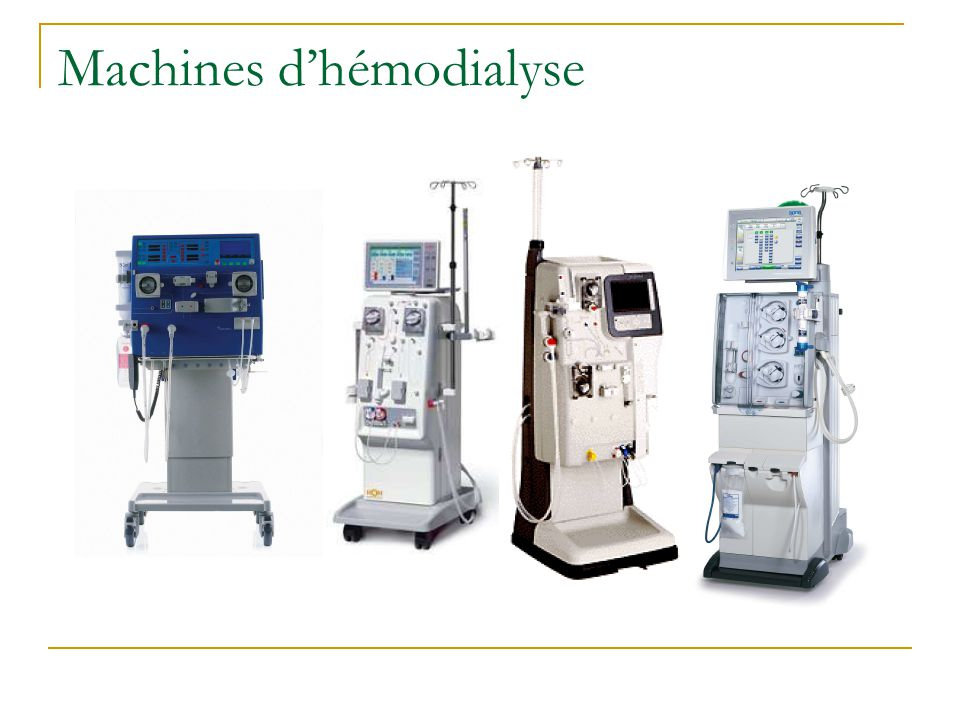 Machines d'hémodialyse