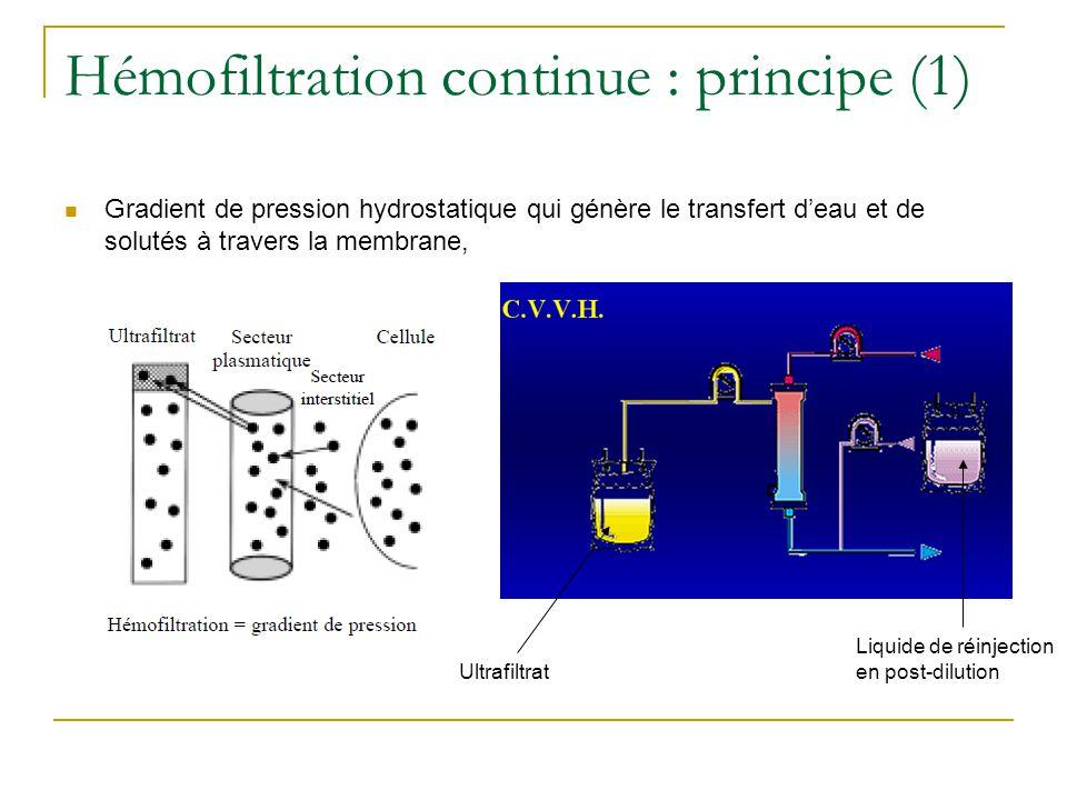 Hémofiltration continue : principe (1)