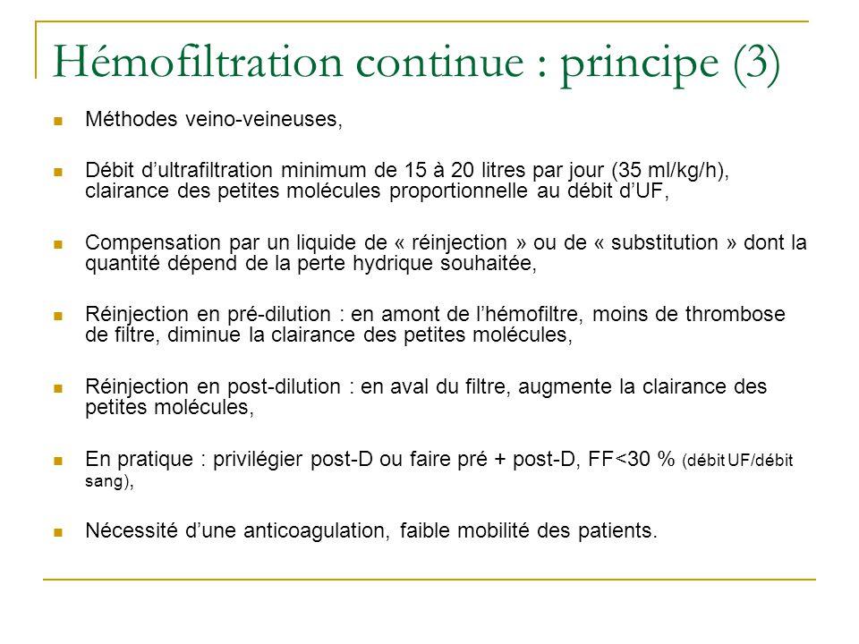 Hémofiltration continue : principe (3)