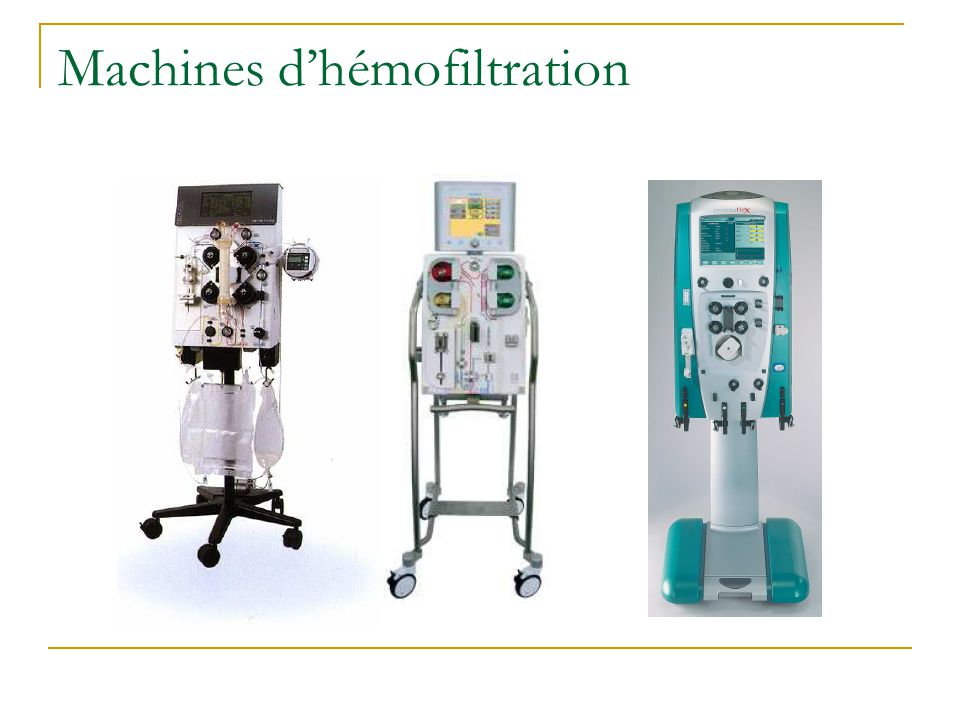 Machines d'hémofiltration