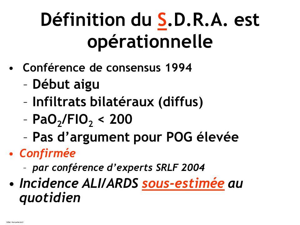 Définition du S.D.R.A. est opérationnelle