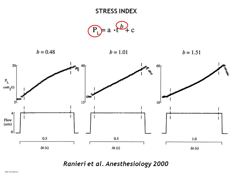 Stress index STRESS INDEX Ranieri et al. Anesthesiology 2000