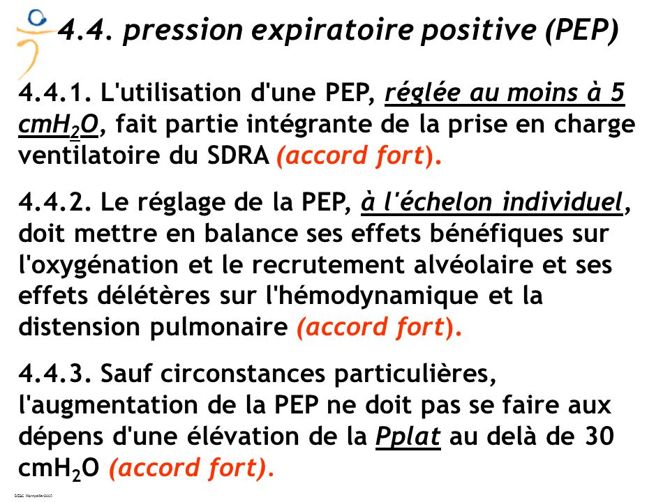 4.4. pression expiratoire positive (PEP)