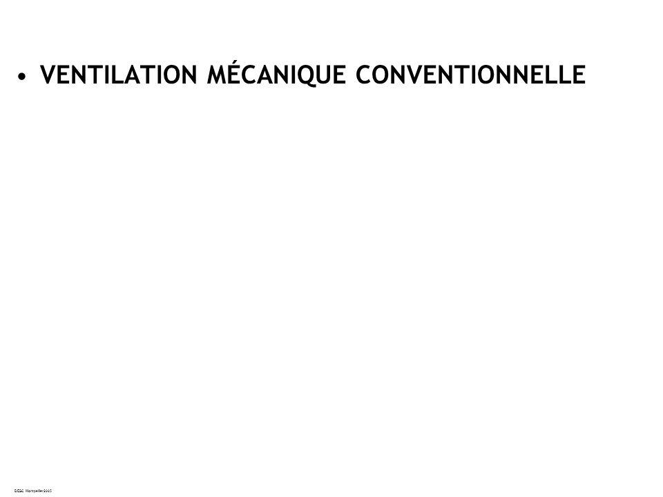 VENTILATION MÉCANIQUE CONVENTIONNELLE