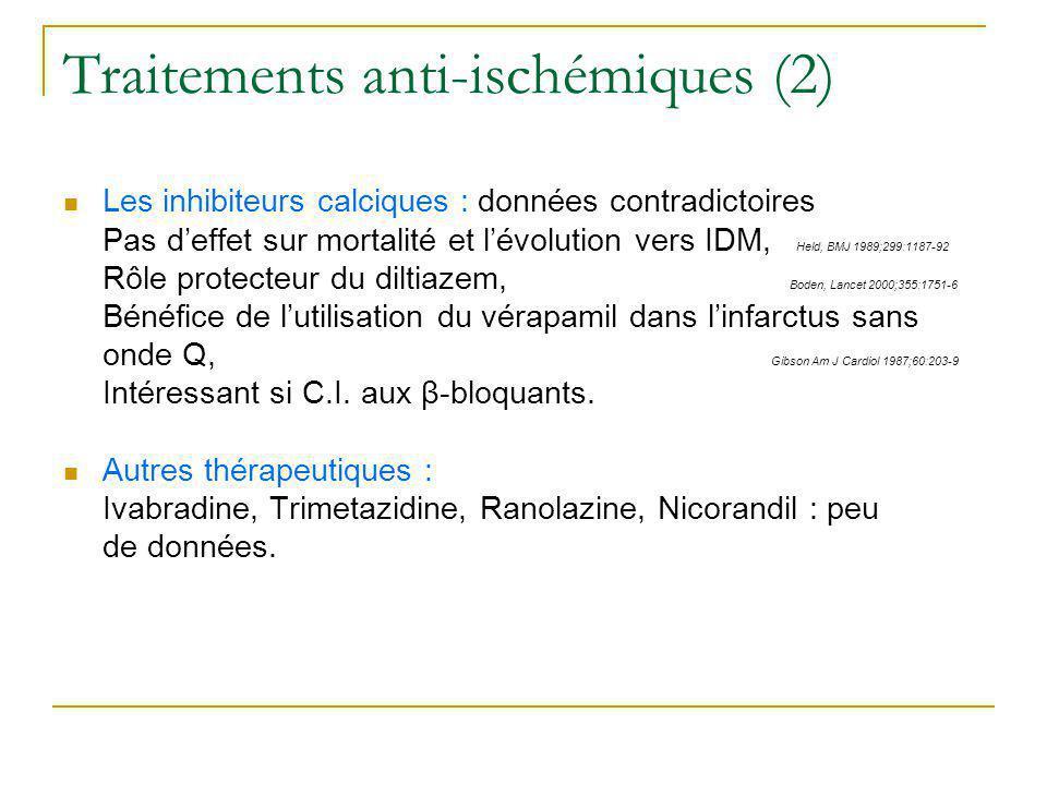 Traitements anti-ischémiques (2)