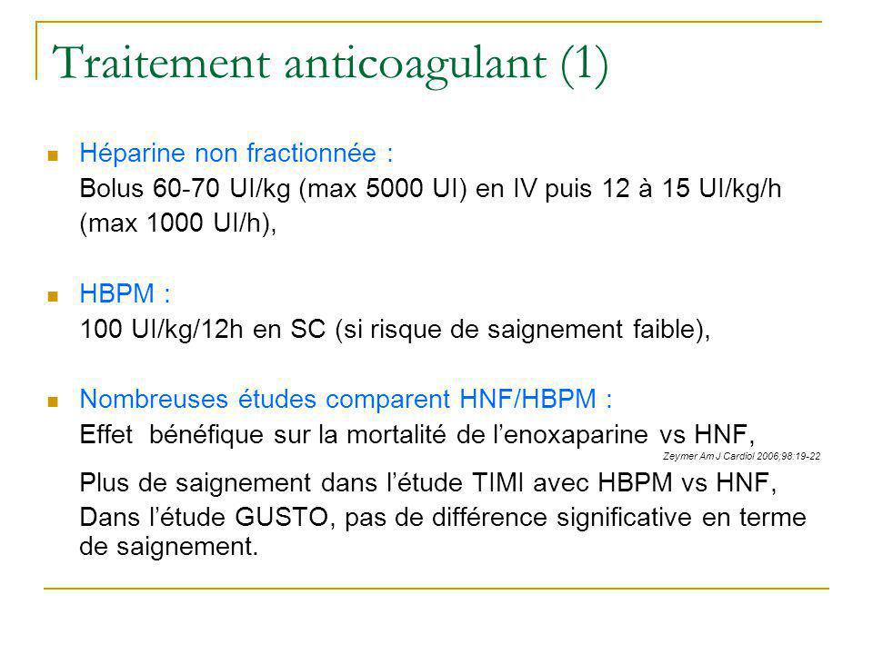 Traitement anticoagulant (1)