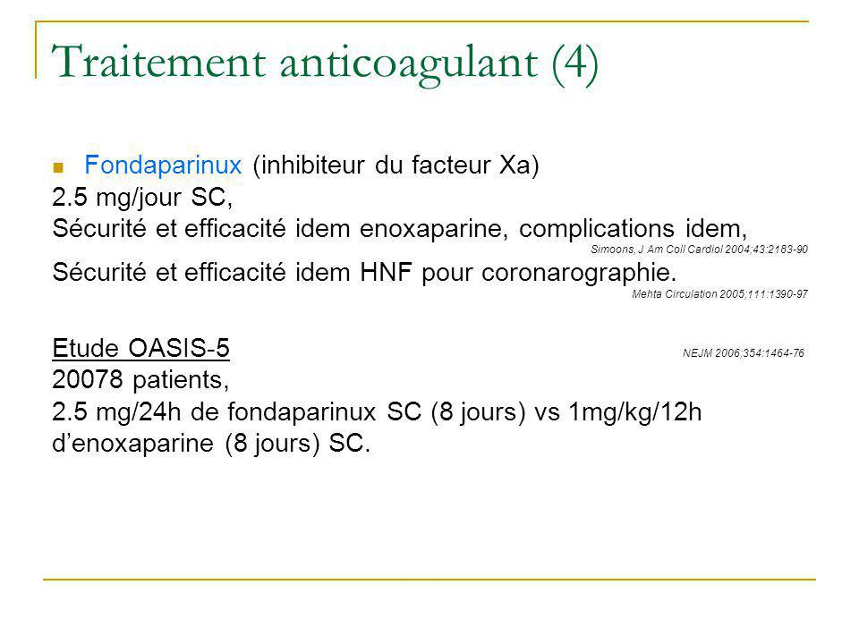 Traitement anticoagulant (4)