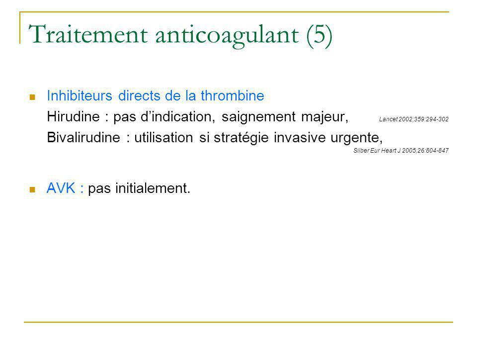 Traitement anticoagulant (5)