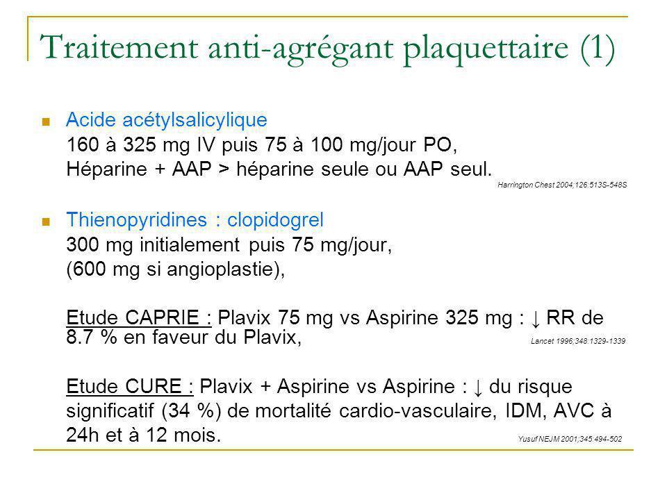 Traitement anti-agrégant plaquettaire (1)