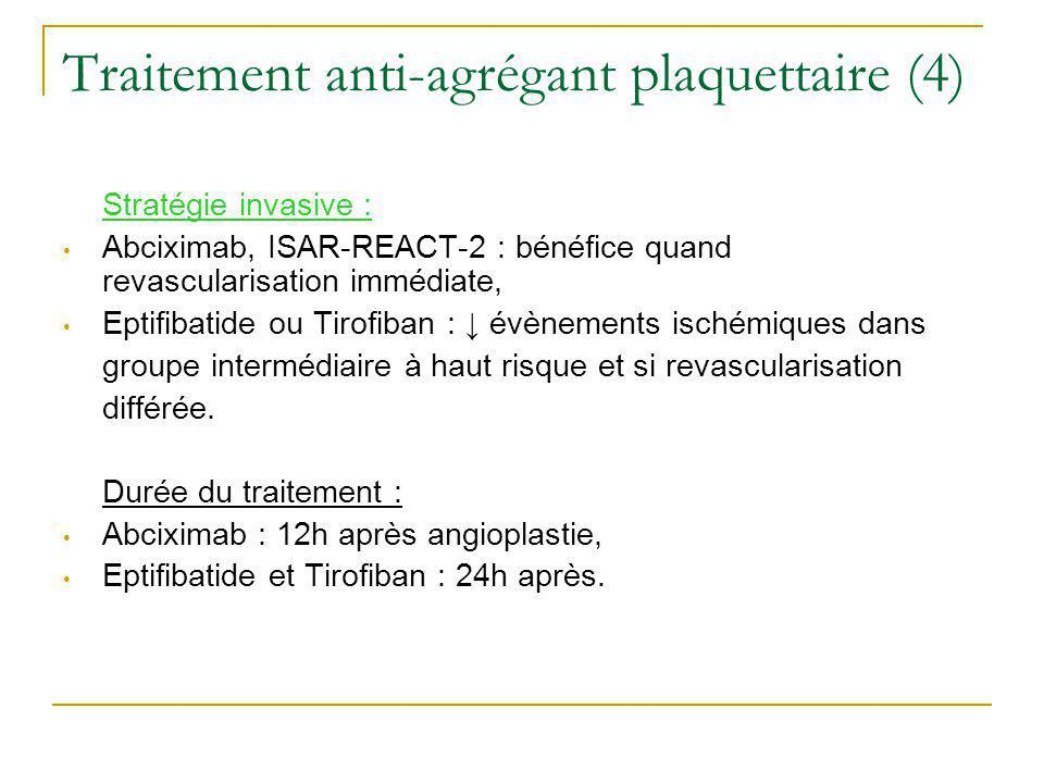 Traitement anti-agrégant plaquettaire (4)
