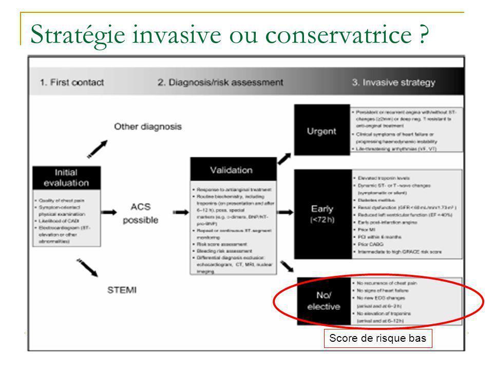 Stratégie invasive ou conservatrice