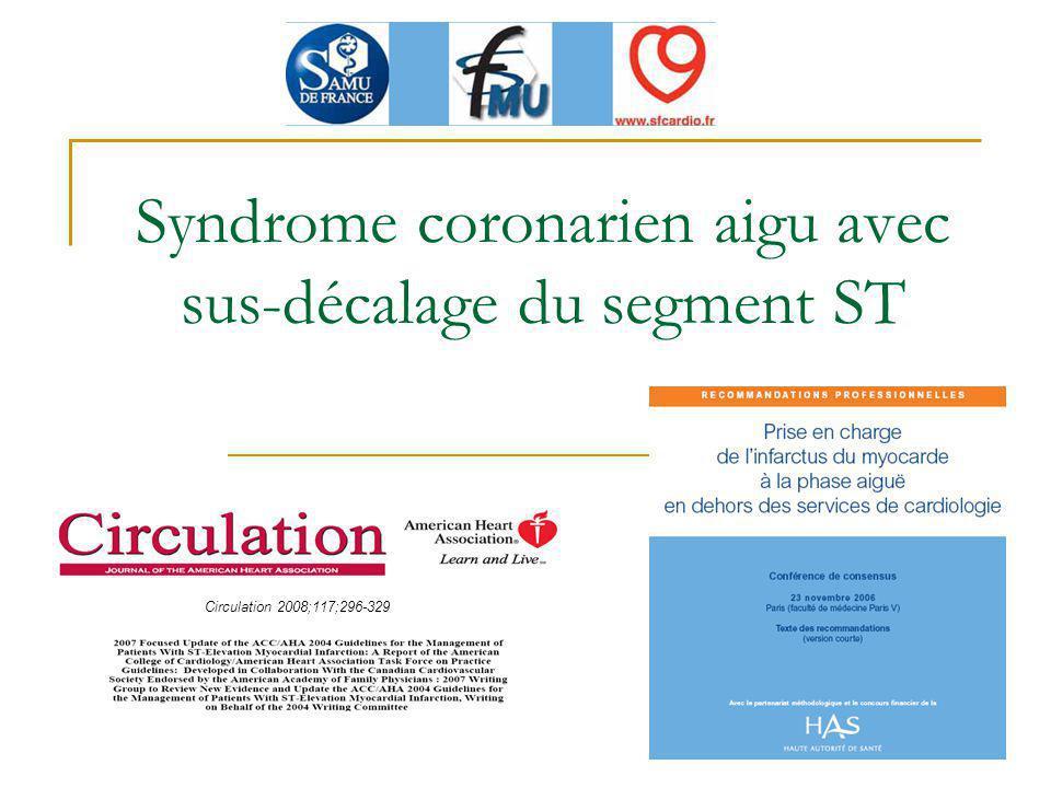 Syndrome coronarien aigu avec sus-décalage du segment ST