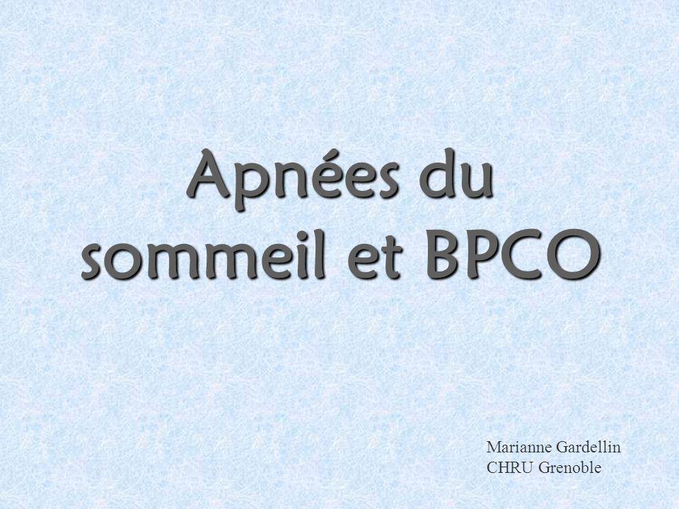 Apnées du sommeil et BPCO