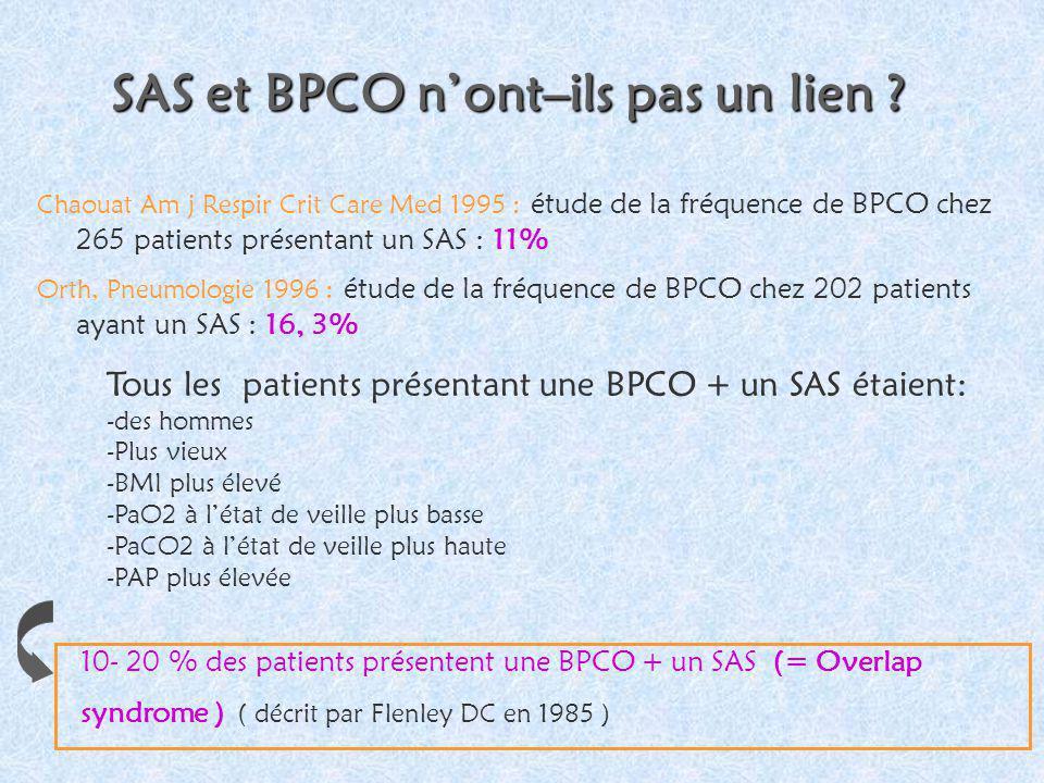 SAS et BPCO n'ont–ils pas un lien