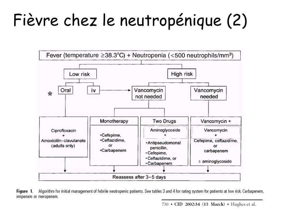 Fièvre chez le neutropénique (2)