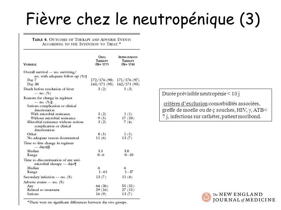 Fièvre chez le neutropénique (3)