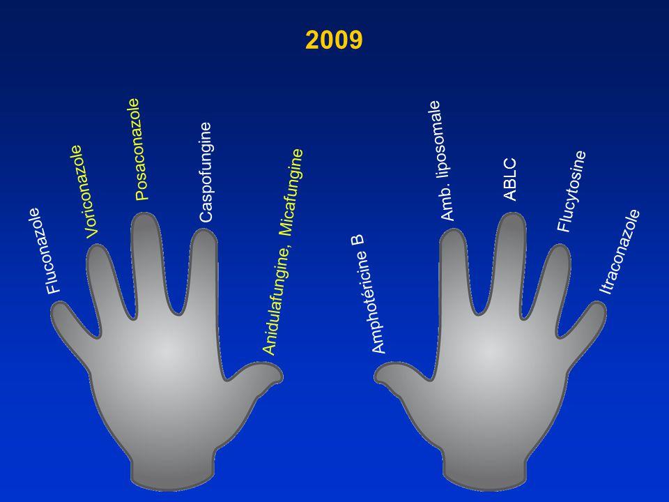 2009 Amb. liposomale ABLC Posaconazole Caspofungine Voriconazole