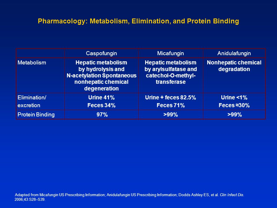 Pharmacology: Metabolism, Elimination, and Protein Binding