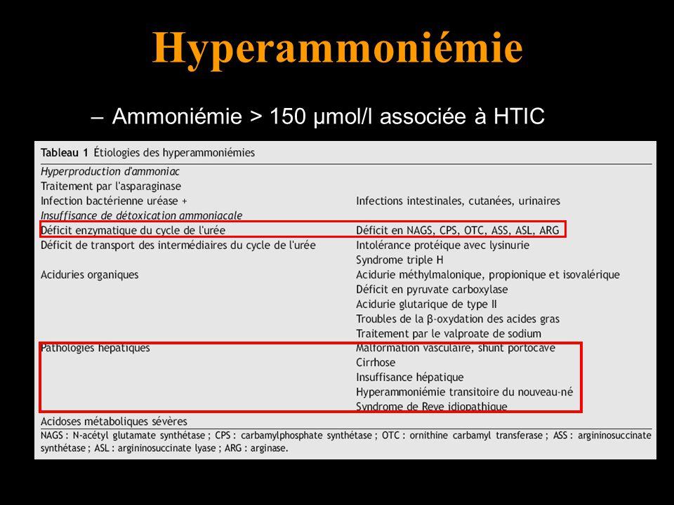 Hyperammoniémie Traitement de l'hyperammoniémie