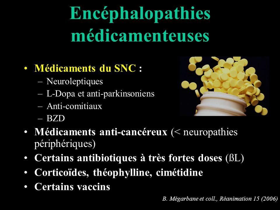 Encéphalopathies médicamenteuses