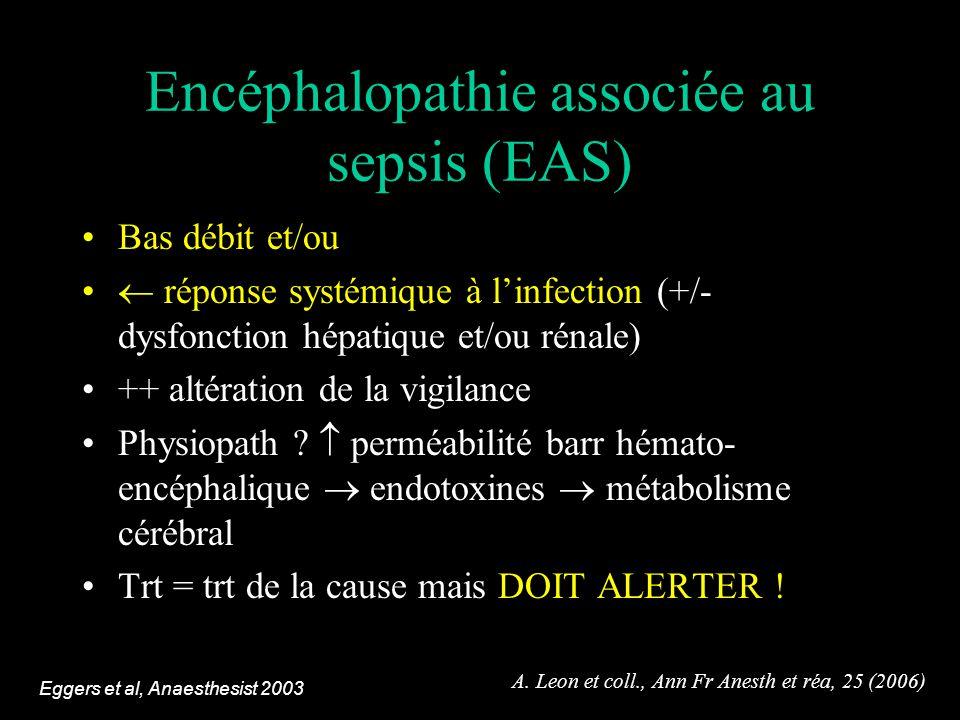 Encéphalopathie associée au sepsis (EAS)