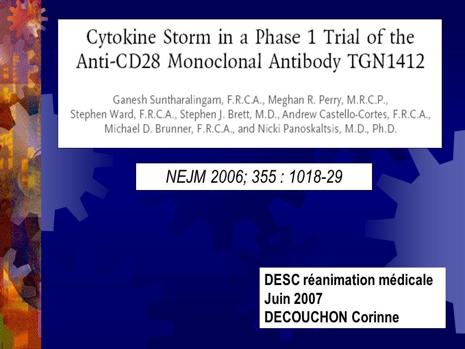 NEJM 2006; 355 : 1018-29 DESC réanimation médicale Juin 2007