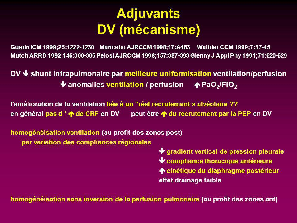 Adjuvants DV (mécanisme)