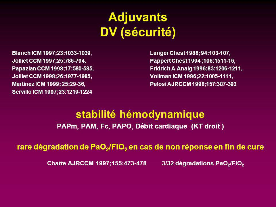 Adjuvants DV (sécurité)
