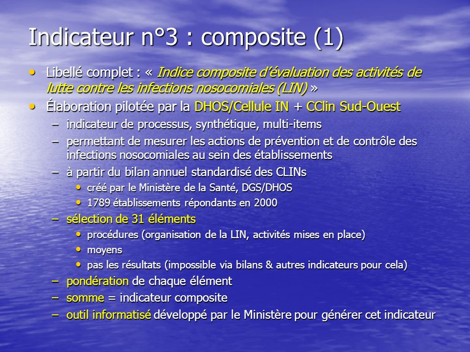 Indicateur n°3 : composite (1)