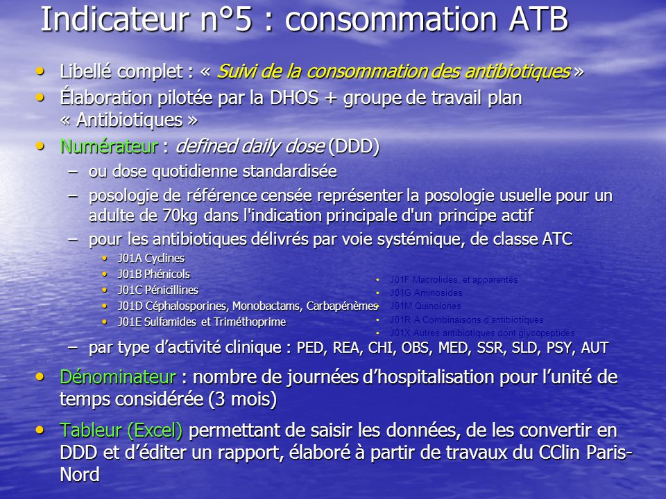 Indicateur n°5 : consommation ATB